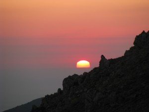 Tramonto dal Monte Bulgheria